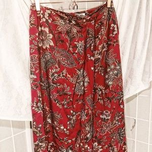 TALBOTS RED FLORAL WRAP DRESS 🌹